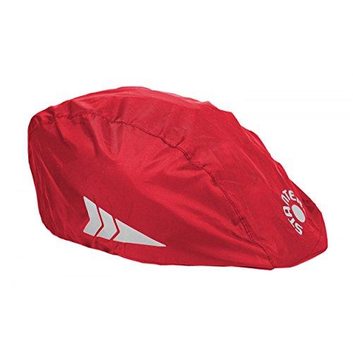 Helm-Regenüberzug Universal Regenschutz für Fahrradhelme Regenkappe Schutzbezug, Farbe: Rot, Größe: Einheitsgröße (Universal Reflektor)