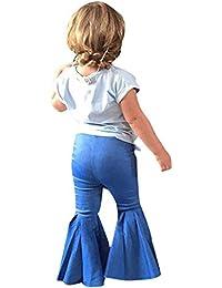 PinkLu Pantalones De NiñOs Pantalones Vaqueros De Mezclilla Pantalones Casual BebéS NiñAs NiñOs Ropa Vaquera Pantalones Vaqueros Pantalones