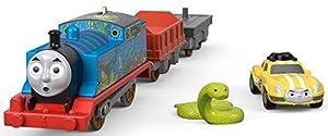 Thomas and Friends Tren de Juguete de la Locomotora Thomas y el Coche de Carreras Ace, Juguetes Niños 3 Años (Mattel FJK55)