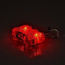 Luwu-Store Médaille LED Lumineux Pendentif de Collier Collier Compatible pour Animaux Chien Chat-Rouge