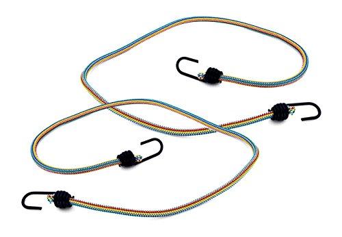 Max-Power DY270623M Lot de 2 tendeurs élastiques pour bagages avec crochets en métal, 200cm