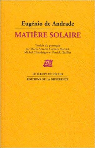 Matière solaire