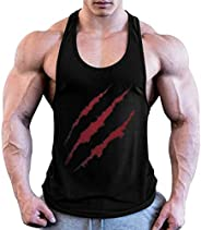OULSEN Men Fitness Tank Top Muscle Tees Scratch Pattern 3D Printed Sleeveless T-shirt Bodybuilding Gym Vest To