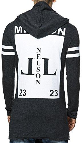 Nelson Leif Men's-Felpa con cappuccio, grande, LN20150214-Giacca Antracite