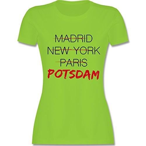 Städte - Weltstadt Potsdam - tailliertes Premium T-Shirt mit Rundhalsausschnitt für Damen Hellgrün