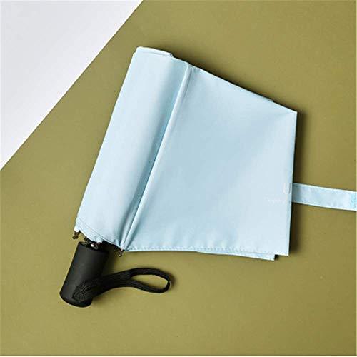 LYJZH Sonnenschirm Regenschirm Faltautomatik Regen und Regen-Sonnenschutzschirm mit doppeltem Verwendungszweck hellblau Automatikschirm hellblau
