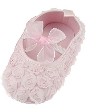 Adorabile per bambina, con suola morbida, colore: rosa con fondo arricciato, chiusura con Velcro, donna, estivi...