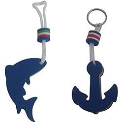 VORCOOL 2pcs Llavero Flotante de Anclaje de Eva para Deportes Pesca al Aire Libre