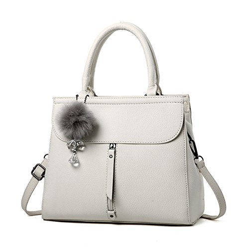 Ruiren Multifunktions Soft Bag Portable Umhängetasche Frauen Messenger Bags Frauen Handtasche Schultertasche Weiß