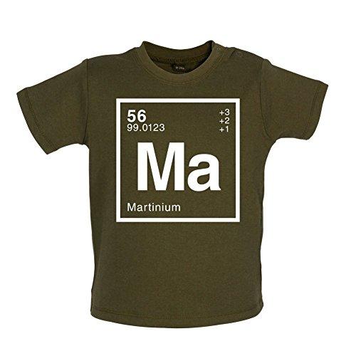 Martin - Élément Périodique - T-shirt bébé - Kaki - 6 à 12 mois