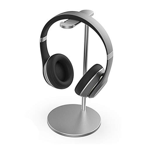 FGSJEJ Support d'écouteur Universel en Alliage d'aluminium monté sur la tête étagère pour écouteurs Rack créatif en métal pour Cadre d'écouteur (Couleur : Silver)