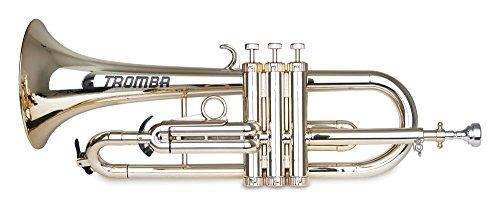 Classic Cantabile Tromba ABS Kunststoff Flügelhorn (Monel-Ventile, Gewicht nur 560g, inl. Mundstück, Tasche & Reinigungsset) Gold