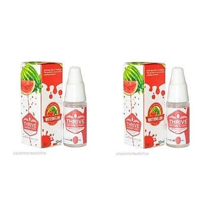 """""""Nikotinfrei"""" oder """"Ohne Nikotin"""" 2 X Wassermelone GEDEIHEN - aromatisierte E-Juice / E-Liquid No Nikotin - Qualität garantiert erstklassige Extrakte (0 % NIKOTIN) von THRIVE - Flavoured E-Juice"""