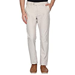 Allen Solly Mens Casual Trousers (AMTF517G03589_Beige_34W x 34L)