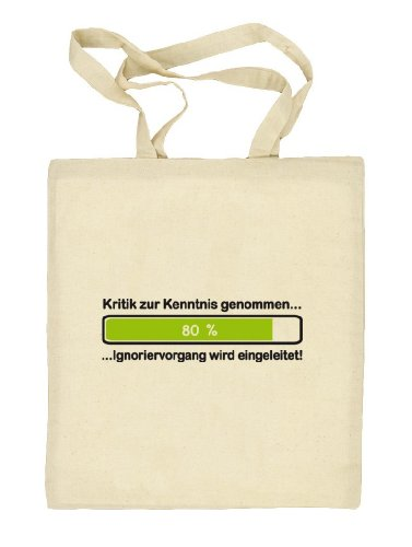 Shirtstreet24, Kritik zur Kenntnis genommen..., Stoffbeutel Jute Tasche (ONE SIZE) Natur