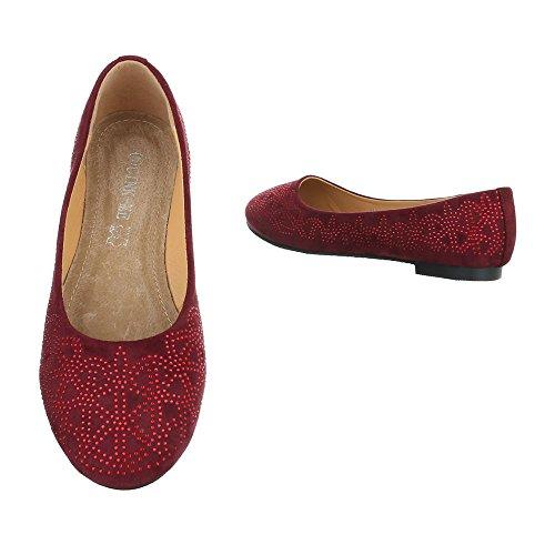 Ital-Design , Coupe fermées femme rouge bordeaux
