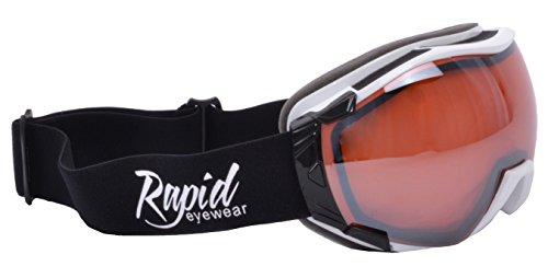 e3a889d976 Rapid Eyewear Neri SOVRAOCCHIALI DA SCI e SNOWBOARD Montare occhiali da  vista per uomini e donne