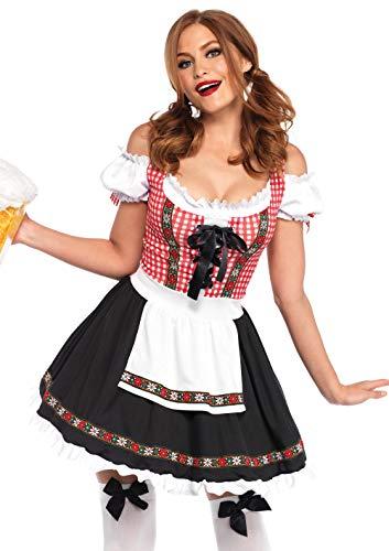 1 Biergarten Babe Damenkostüme, Damen, Mehrfarbig, Größe XL (EUR 44-46) ()