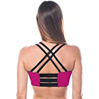 Sujetador de Yoga Colorblocking párrafo Corto Sports Chaleco de Secado rápido Fitness Yoga a Prueba de Golpes Sujetador Deportivo Ajustable (Color : Púrpura, tamaño : L)