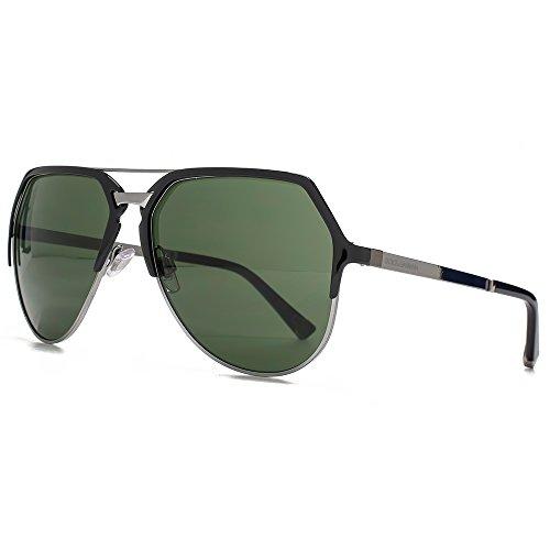 Dolce & Gabbana DNA-Aviator-Sonnenbrille in schwarz Gunmetal polarisiert DG2151 01/71 59 59 Grey Polarised (Dna-sonnenbrille)