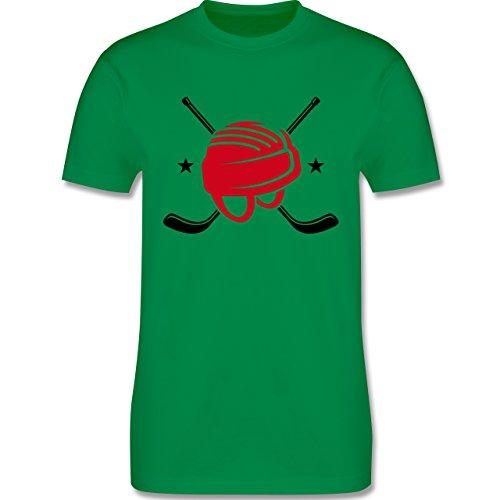 Eishockey - Helm Eishockeyschläger - Herren Premium T-Shirt Grün