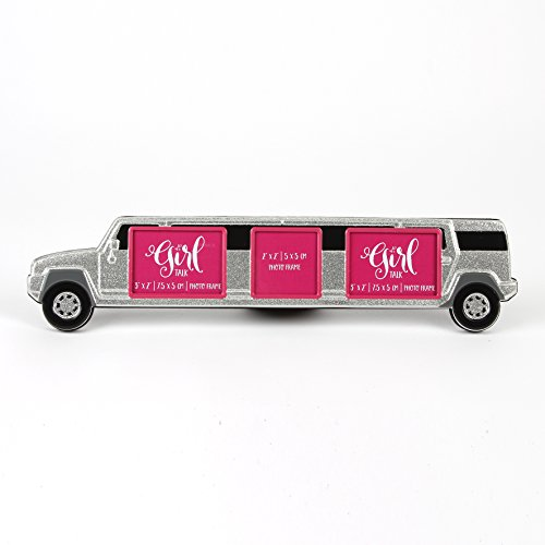 girl-talk-glittery-hummer-aluminium-photo-frame-with-3-apertures-prom-night-out
