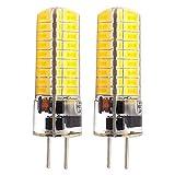 GLMING LED-Leuchtmittel, 3.5 W, G5.3, 72-5730, SMD, GX5.3, Bi-Pin DC12 V-24 V, Silikon, superhell,Warmweiß, 2er Pack