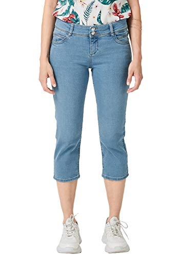 s.Oliver Damen 04.899.72.5087 Skinny Jeans, Blau (Blue Denim Stretch 52z6), 42 Blue Denim Capri-jeans