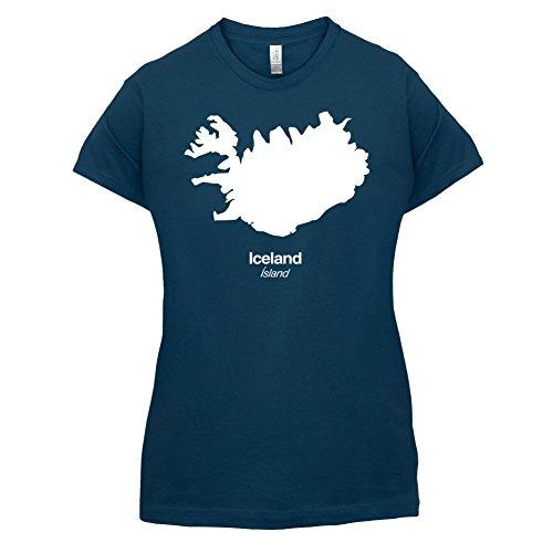 Iceland / Island Silhouette - Damen T-Shirt - 14 Farben Navy