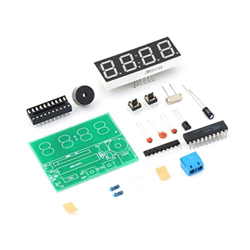 ForceSthrength 3V-6V C51 4 Bits Digital Electronic Clock Electronic Production Suite DIY Kit Electronic Technical Manual