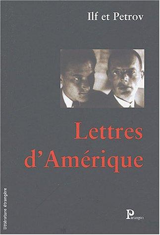 Lettres d'Amérique