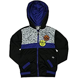 New York Knicks de la NBA juventud Bugsy Zip Up sudadera con capucha, negro
