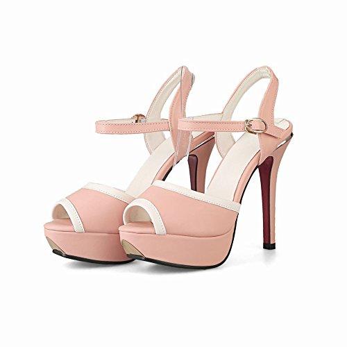 MissSaSa Donna Sandali col Tacco Spillo Alto Sexy e Fashion Rosa