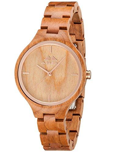 greentreen de madera relojes Natrual madera de...
