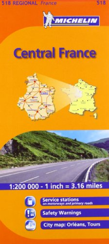 Mapa Regional Central France (Carte regionali) por Michelin