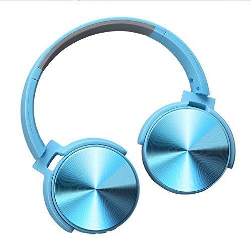 Excelvan Auriculares cerrados Bluetooth con Modo FM, Función de Tarjeta TF, Auriculares...