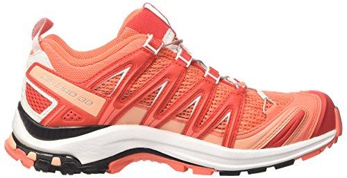Salomon Xa Pro 3d W, Scarpe da Trail Running Donna Arancione (Living Coral/White/Poppy Red)