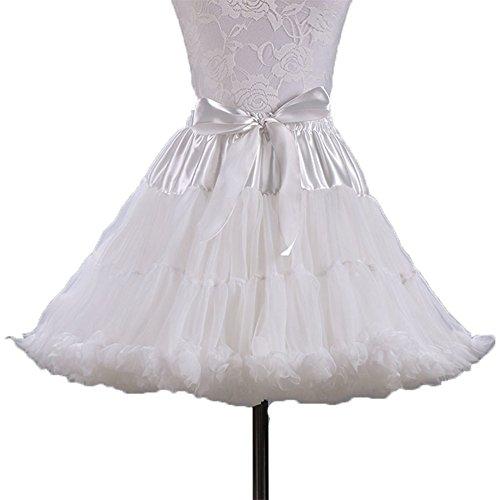 Damier Dirndl Unterrock Damen 50er Petticoat Princess Elastisch Bund Mini Partyröcke