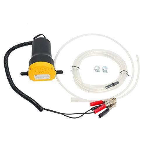 FreeTec Pompa Estrattore Per Aspirazione Olio Motore e Gasolio Pompa di Aspirazione dell'olio, 60W 12V