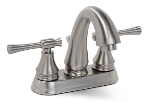 Lead Free Centerset (Premier 120070LF Torino Lead-Free Centerset Two-Handle Lavatory Faucet, Brushed Nickel by Premier)
