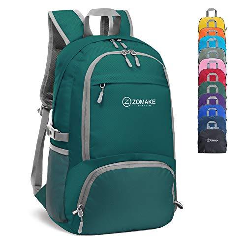 Zomake 30l zaino leggero viaggio - pieghevole zaino per città trekking zaino arrampicata la sportivo(verde scuro)