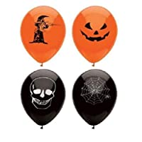 AIBULO Cool 240 HALLOWEEN BALLOONS Skull TRICK TREAT COBWEB Decorations PARTIES PARTY SPOOKY