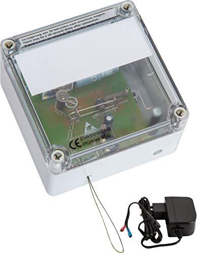 AXT-Electronic VSB+ST Elektronischer Pförtner, automatische Hühnerklappe mit Stecker-Netzteil