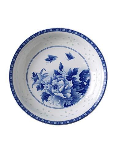 Warm zjyhpm Keramisches Tellern-Teller-Tellertellern-Teller der Teller Chinesisches Blaues und Weißes Porzellan-Mikrowellengeschirr der Teller Kreatives