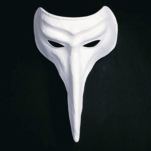 NET TOYS Weiße Schnabelmaske Venezianische Schnabel Maske Raben Maske Venedig Pestmaske Pantalone Ballmaske Karnevalsmaske - Pantalone Kostüm Und Maske