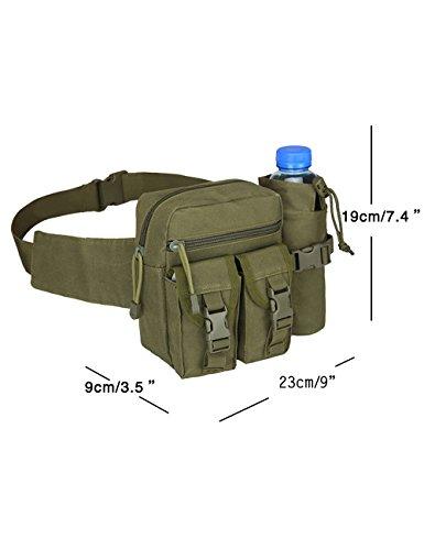 Menschwear Outdoor multiuso tattico Pouch Utility Gadget cintura marsupio Camuffare 2 Verde
