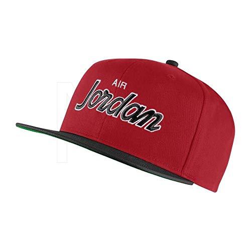 a807961b30aa5 Nike Jordan PRO Script cap, Cappello Uomo, Gym Red/Black/Pine Green