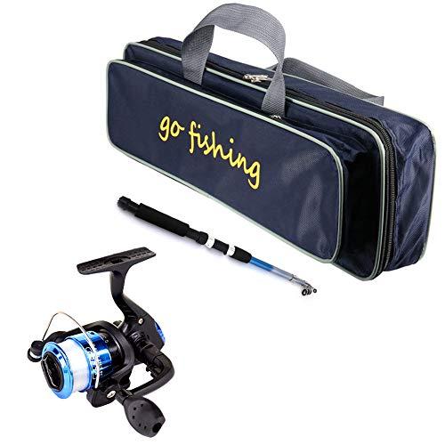 Zexo Set di canne da Pesca per Bambini, comode canne telescopiche Leggere e Portatili per Pesca Giovanile con Kit di canne da Pesca d'Acqua Dolce