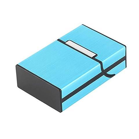 ✔ ADVITECK PREMIUM+ 2017 - Étui Pour Paquets de Cigarettes Neutres - Look Design Avec Fermeture Aimantée - Taille Parfaitement Adaptée Pour Paquet Standard de 20 Cigarettes (Bleu)
