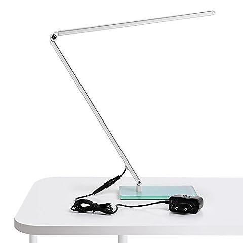 Amzdeal® Lampe de bureau LED Dimmable lumière clip 48 LED avec fonction tactile 5500 Kelvin - 10W - Blanc